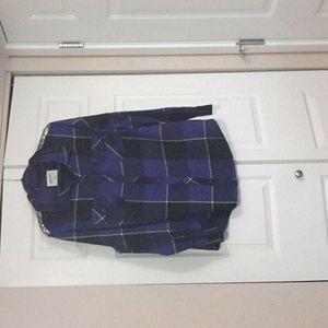 Long sleeve plaid shirt 100%cotton.